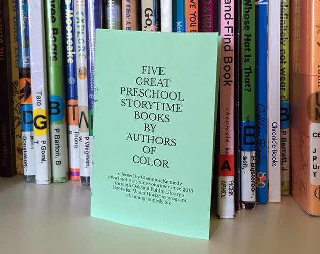 "New zine: ""Five Great Preschool Storytime Books By Authors of Color"""